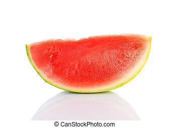 watermeloen, snede, sappig