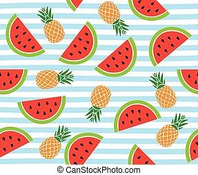 watermeloen, strepen