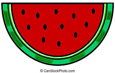 watermeloen, wig