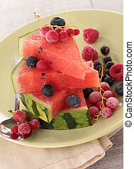 watermelon and berry fruit