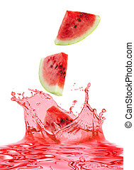 watermelon and juice