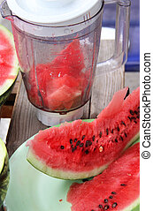 Watermelon and juicy smoothie