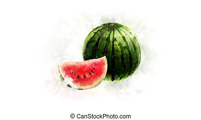 Watermelon Animation on the alpha channel - A beautiful...