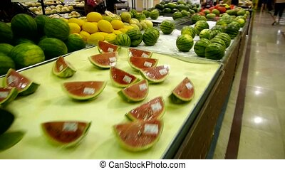 watermelon at the mall supermarket.