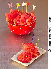 watermelon chunks