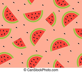 watermelon - vector watermelon seamless background