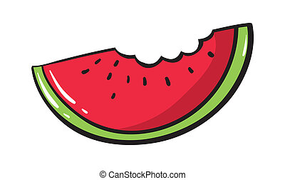 Watermelon - Illustration of a simple watermelon
