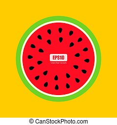 Watermelon colorful vector poster