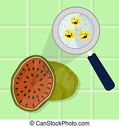 Watermelon contaminated with microbes