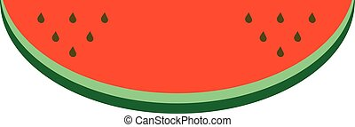 Watermelon fruit icon isolated.