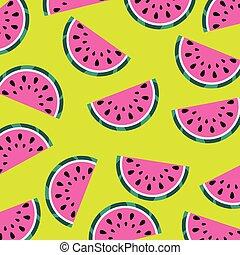 watermelon fruit juicy fresh seamless pattern