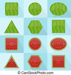 Watermelon geometric shape
