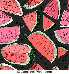 Watermelon hand drawn