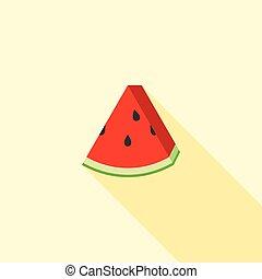 Watermelon icon, flat design vector