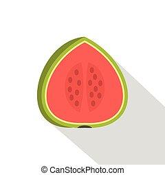 Watermelon icon, flat style