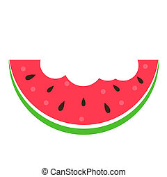 Watermelon Icon on White Background. Illustration