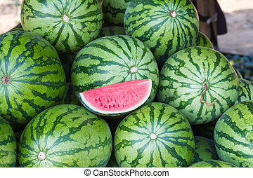 Watermelon in the market