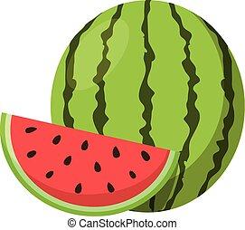 Watermelon. - Isolated icon pictogram. Eps 10 vector...