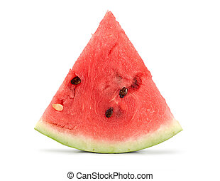 Watermelon isolated on white - A ripe juicy watermelon...
