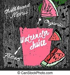 Watermelon Juice Blackboard 01 A