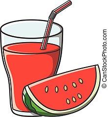 Watermelon juice doodle
