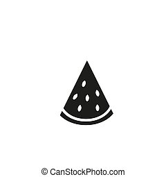 Watermelon line icon on white background, vector, illustration, eps file
