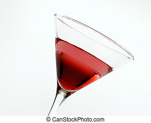 Watermelon Martini isolated on a white background