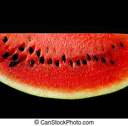 watermelon on a black background