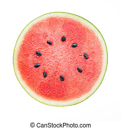 Watermelon on white background.