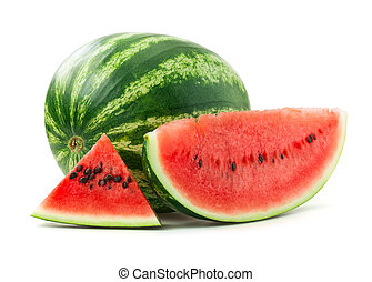 Watermelon over white background