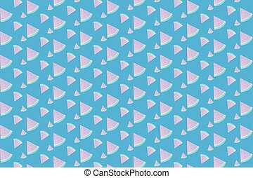 watermelon Pattern seamless with sweet blue background