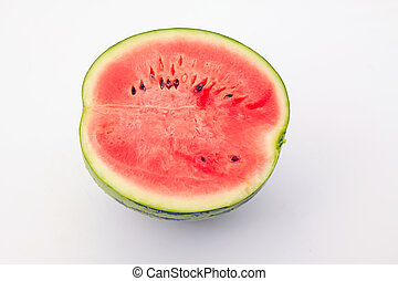 Watermelon profile in a white background
