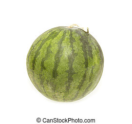 watermelon ripe isolated on white background with clipping path