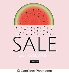 Watermelon Sale Poster