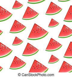 Watermelon seamless background