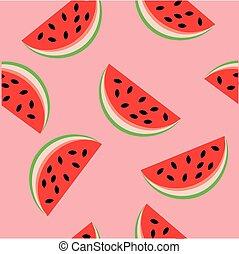 Watermelon seamless background vector illustration