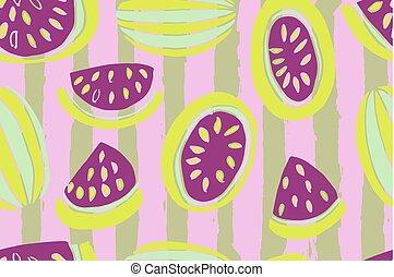 Watermelon seamless pattern.