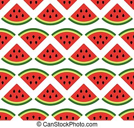 watermelon seamless pattern on white background