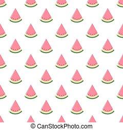 Watermelon seamless pattern. Vector illustration.