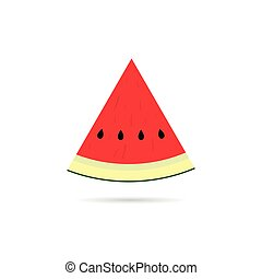 watermelon slice cartoon illustration
