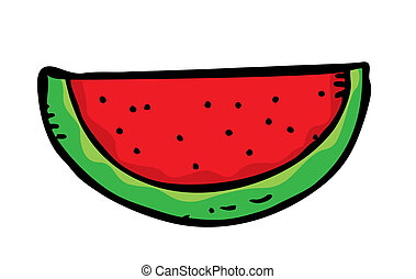 watermelon slice doodle