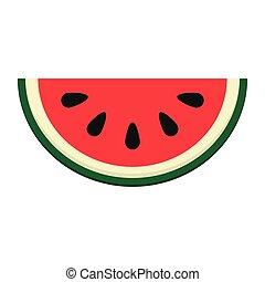 watermelon slice icon - flat design watermelon slice icon...