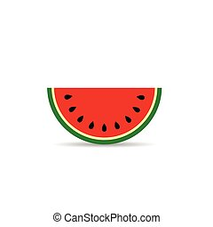 watermelon slice sweet illustration