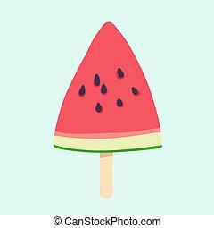 Watermelon slice vector illustration