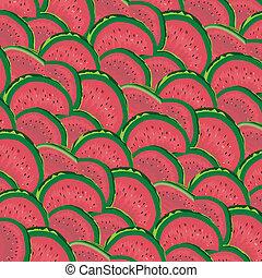 Watermelon Slices Background