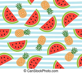 watermelon stripes - vector watermelon background