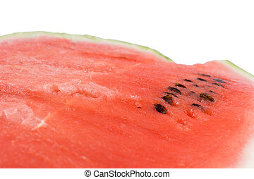 Watermelon texture over white