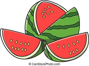 Watermelon vector cartoon