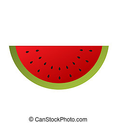 Watermelon isolated on a white background.