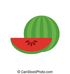 Watermelon. Vector flat illustration